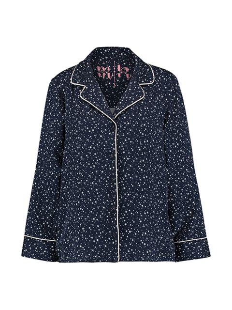 Clothing, Outerwear, Sleeve, Blue, Jacket, Coat, Collar, Denim, Pattern, Top,