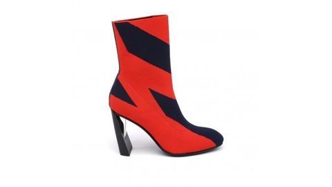 Footwear, High heels, Shoe, Red, Boot, Leather, Basic pump, Suede, Court shoe,