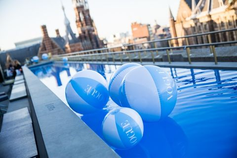 Azure, Aqua, Reflection, Water transportation, Balloon,