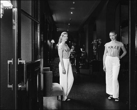 Standing, Monochrome, White, Monochrome photography, Style, Black-and-white, Black, Snapshot, Street fashion, Door,