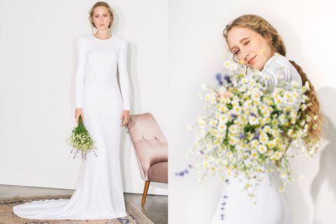 Stella McCartney,婚紗,白紗,新娘禮服,設計師婚紗,結婚禮服,新娘造型,英國皇室,梅根,ELLE WEDDING