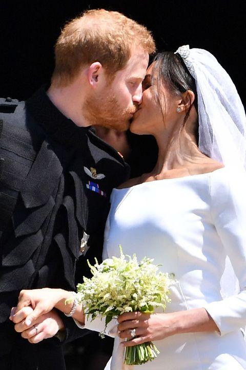 Bride, Ceremony, Marriage, Wedding dress, Wedding, Romance, Bridal clothing, Formal wear, Event, Interaction,