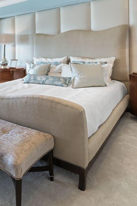 Bed, Furniture, Bedroom, Bed frame, Room, Bedding, Bed sheet, Mattress, Interior design, Property,