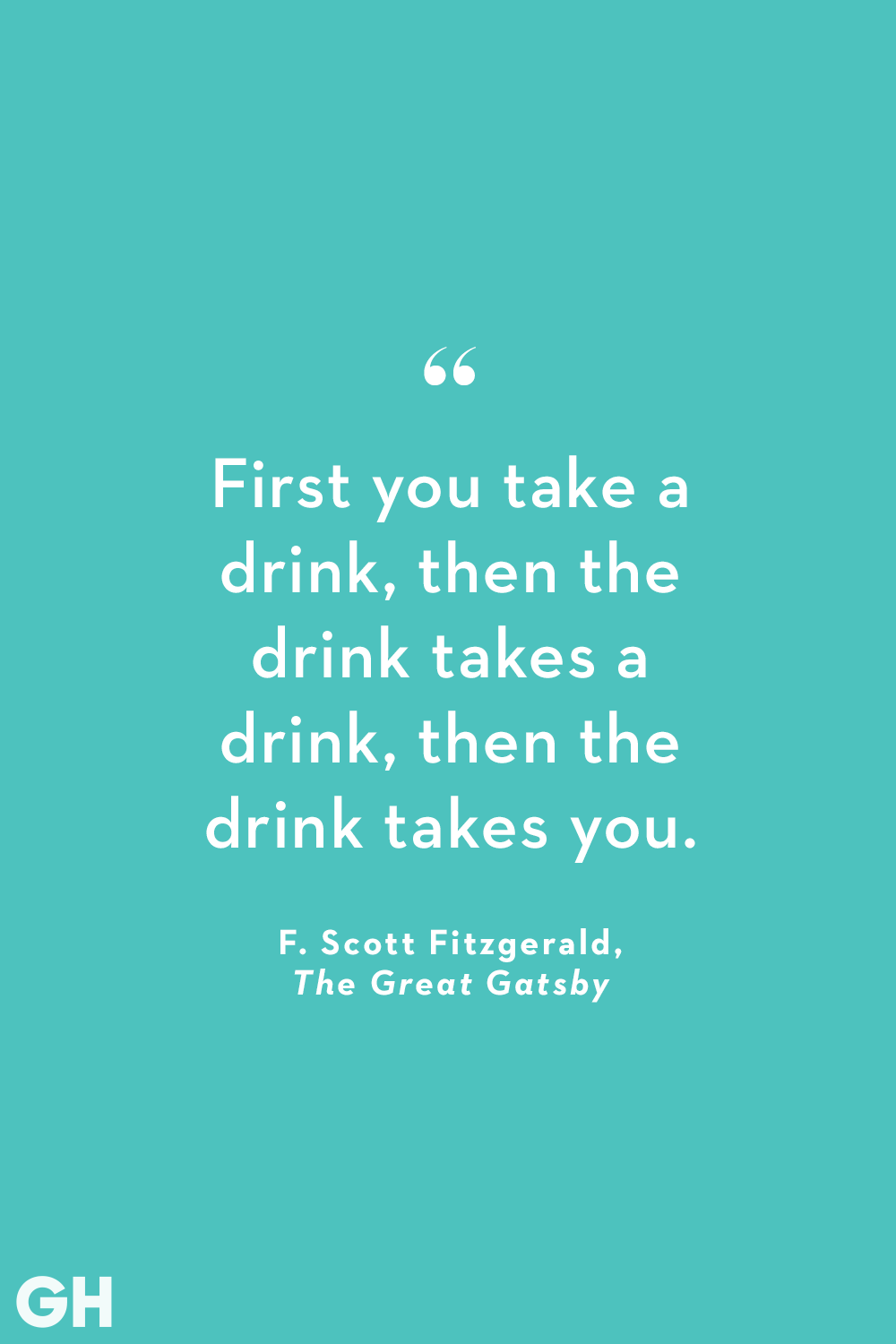 F. Scott Fitzgerald The Great Gatsby Alcohol Quote