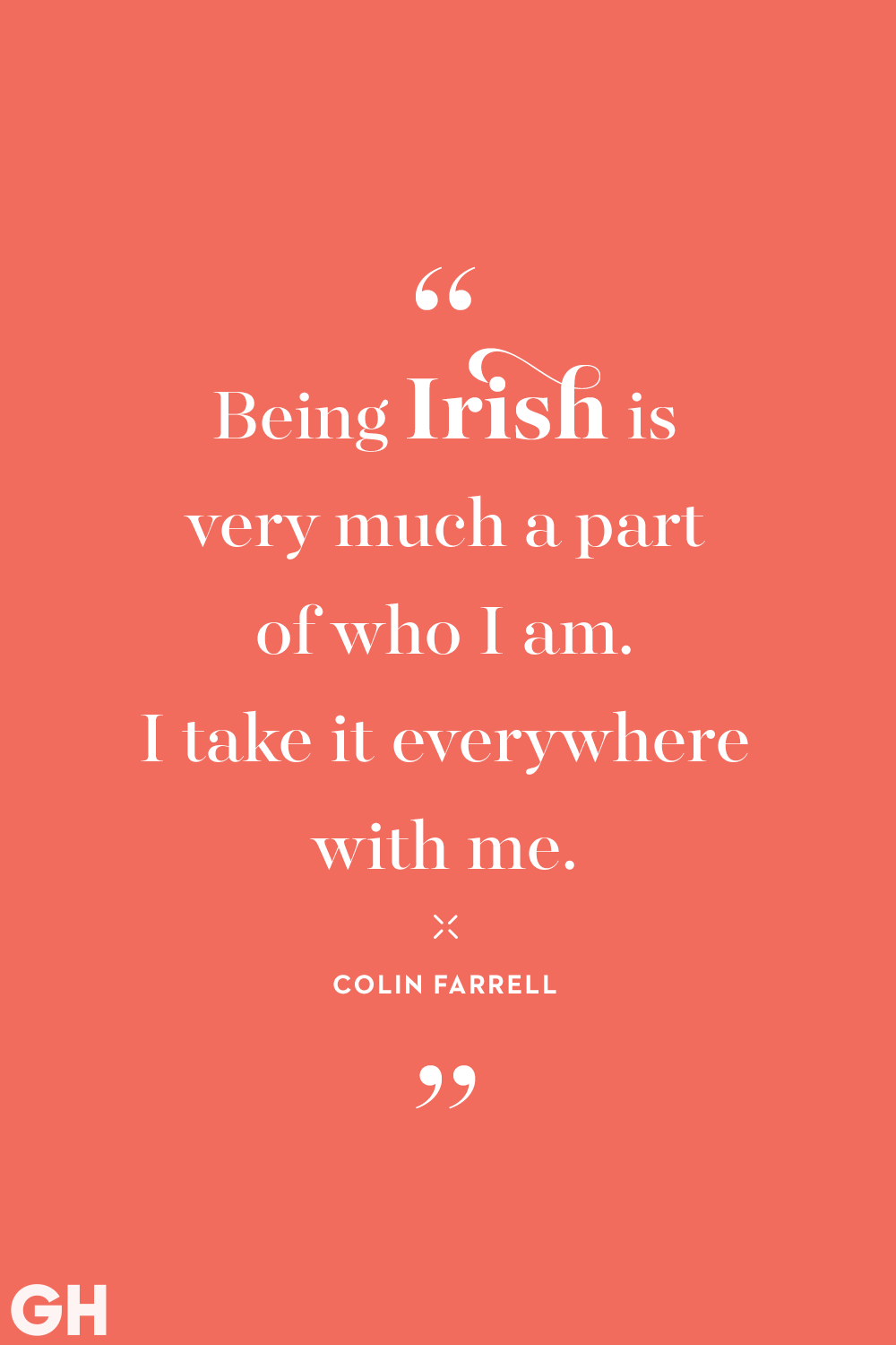 St. Patrick's Day Quote Colin Farrell