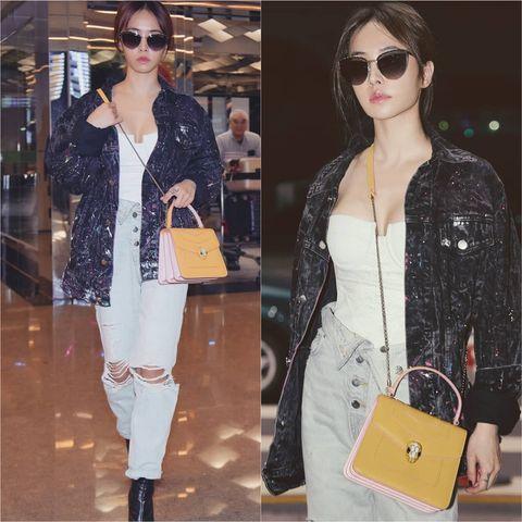 Clothing, Outerwear, Fashion, Street fashion, Eyewear, Shoulder, Jeans, Footwear, Material property, Jacket,