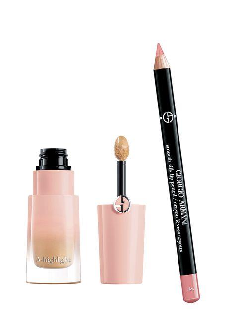 Cosmetics, Pink, Product, Beauty, Brown, Lipstick, Peach, Liquid, Eye liner, Lip gloss,