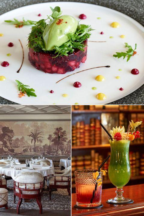 Table, Room, Furniture, Food, Porcelain, Dishware, Textile, Serveware, Interior design, Plate,