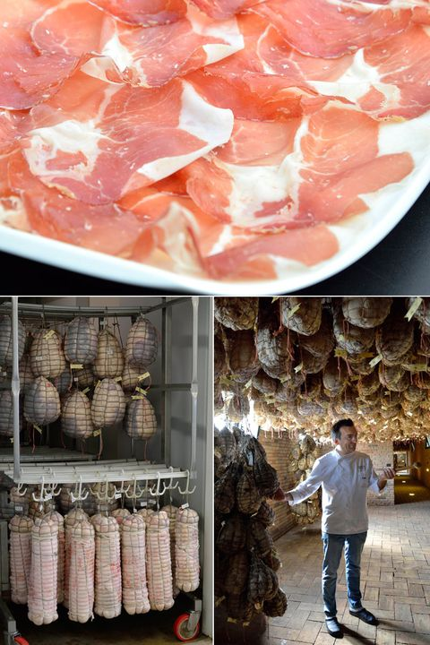 Food, Peach, Cuisine, Meat, Charcuterie, Salumi, Pork, Salt-cured meat, Dish, Ham,