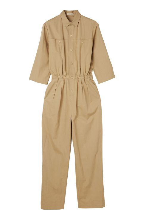 Clothing, Khaki, Sleeve, Beige, Outerwear, Collar, Rain suit, Trousers, Suit, Overall,