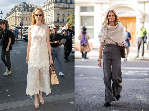 Street fashion, Photograph, White, Clothing, Fashion, Shoulder, Snapshot, Footwear, Dress, Standing,