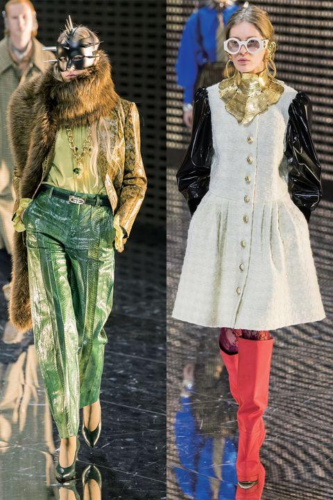 Fashion model, Fashion, Clothing, Runway, Footwear, Fashion show, Fashion design, Tights, Leggings, Fur,