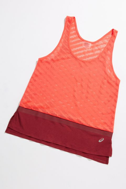 Clothing, Red, Orange, Outerwear, Sportswear, Sleeveless shirt, Vest, T-shirt, Peach,