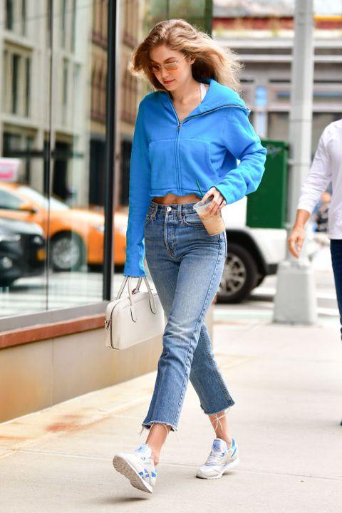 Jeans, Denim, Clothing, Street fashion, Fashion, Snapshot, Waist, Textile, Footwear, Walking,