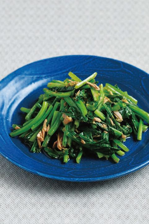青菜とツナのカレー炒め