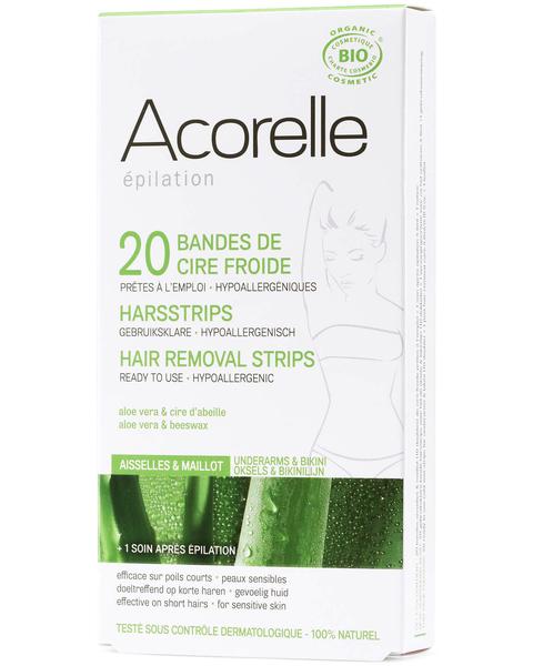 acorelle 蘆薈蜜蠟脫毛貼  護理油套裝