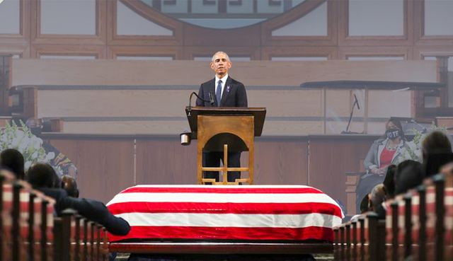 John Lewis Funeral President Obama Calls For Abolishing Filibuster To Renew Voting Rights Act