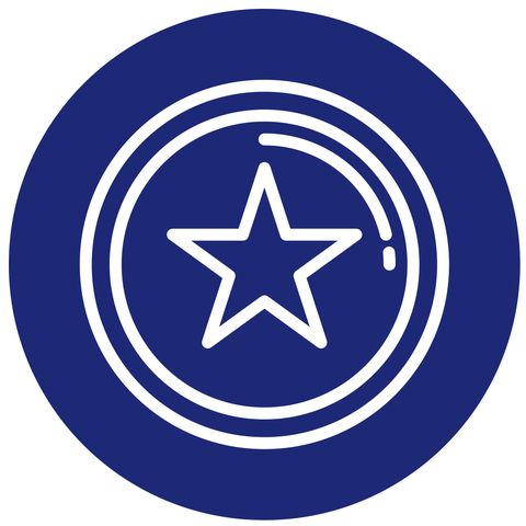 Symbol, Circle, Electric blue, Graphics, Trademark, Sign,