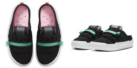 nike offline系列懶人鞋 黑色鞋款單品圖
