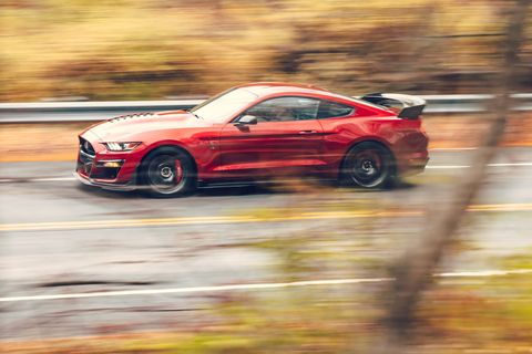 ford mustang shelby gt500 at road  track's performance car of the year tests