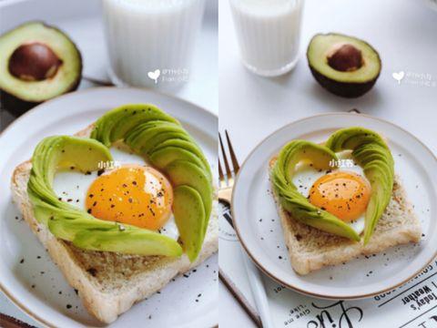 快手高顏值減脂早餐  酪梨太陽蛋全麥吐司