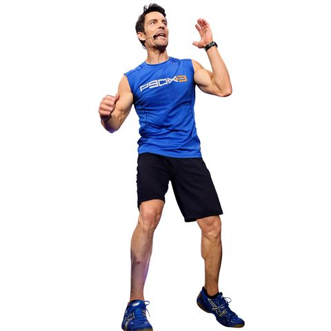fitness man gesticulating