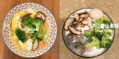 花椰菜蝦仁菌菇湯