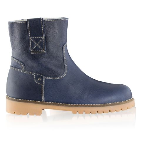 russell and bromley navy shearling boots
