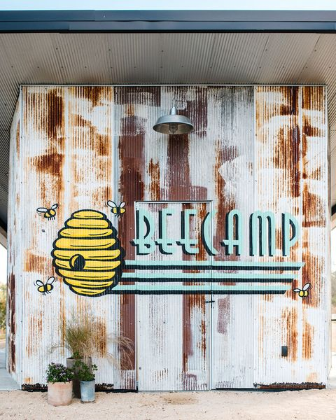 bee camp wall mural
