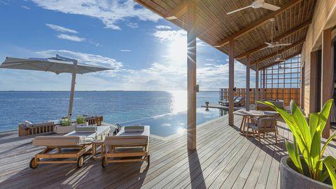 Property, Building, Real estate, House, Resort, Room, Sky, Ocean, Vacation, Shore,