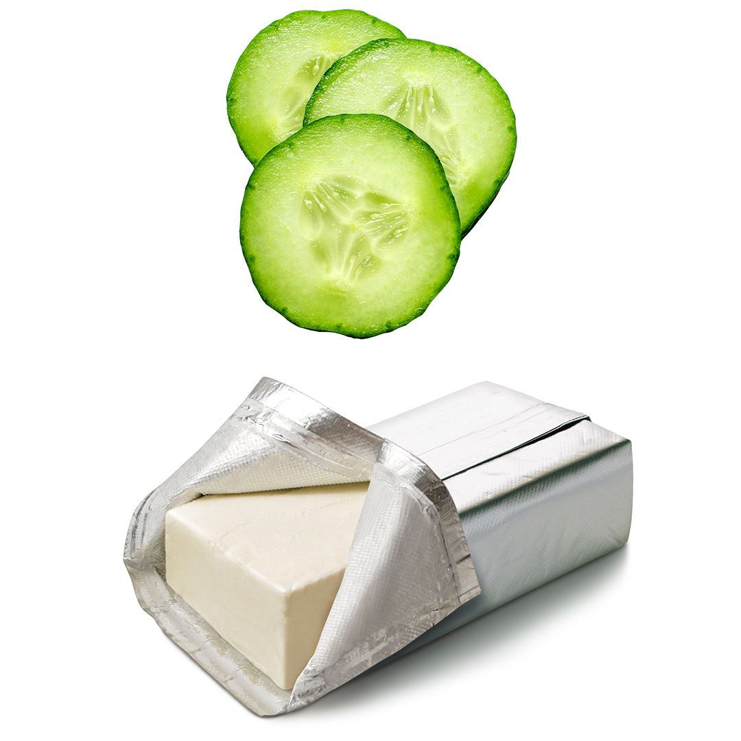 cucumbers and cream cheese