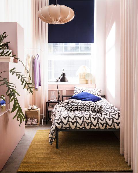dormitorios juveniles para adolescentes creativas edredón y lámpara ikea