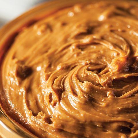 Chunky peanut butter in jar