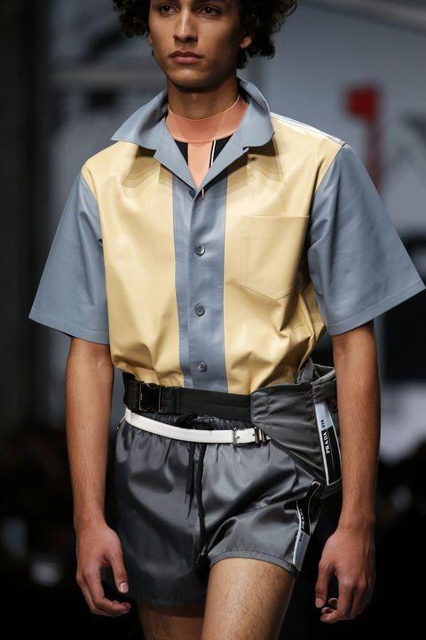 Dress shirt, Collar, Sleeve, Shirt, Style, Waist, Uniform, Pocket, Fashion, Black hair,