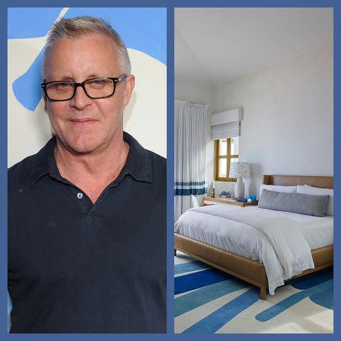 Bedroom, Blue, Room, Furniture, Bed, Bedding, Bed sheet, Interior design, Mattress, Architecture,