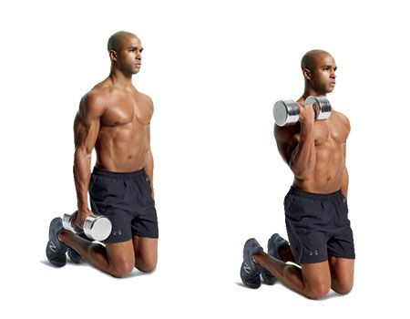 Weights, Exercise equipment, Arm, Dumbbell, Shoulder, Muscle, Standing, Joint, Chest, Abdomen,