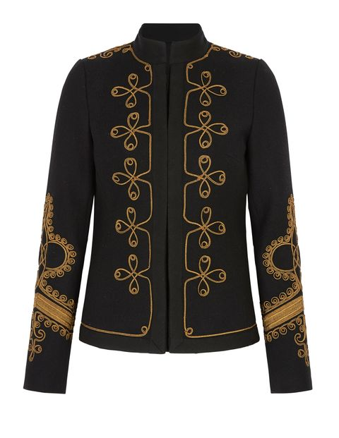 Clothing, Outerwear, Sleeve, Jacket, Blazer, Collar, Top, Pattern, Embroidery,