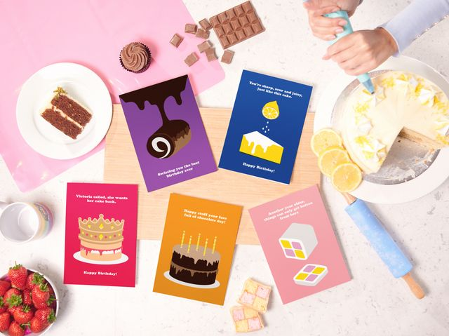 moonpig cake flavour edible cards