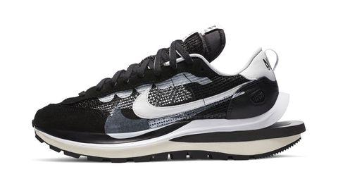 2020 十大話題聯名球鞋排名公開 nike x sacai vaporwaffle 黑色球鞋 單品圖