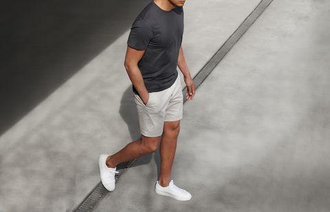 Standing, Leg, Shoulder, Fashion, Joint, Arm, Knee, Sportswear, Shorts, Shoe,