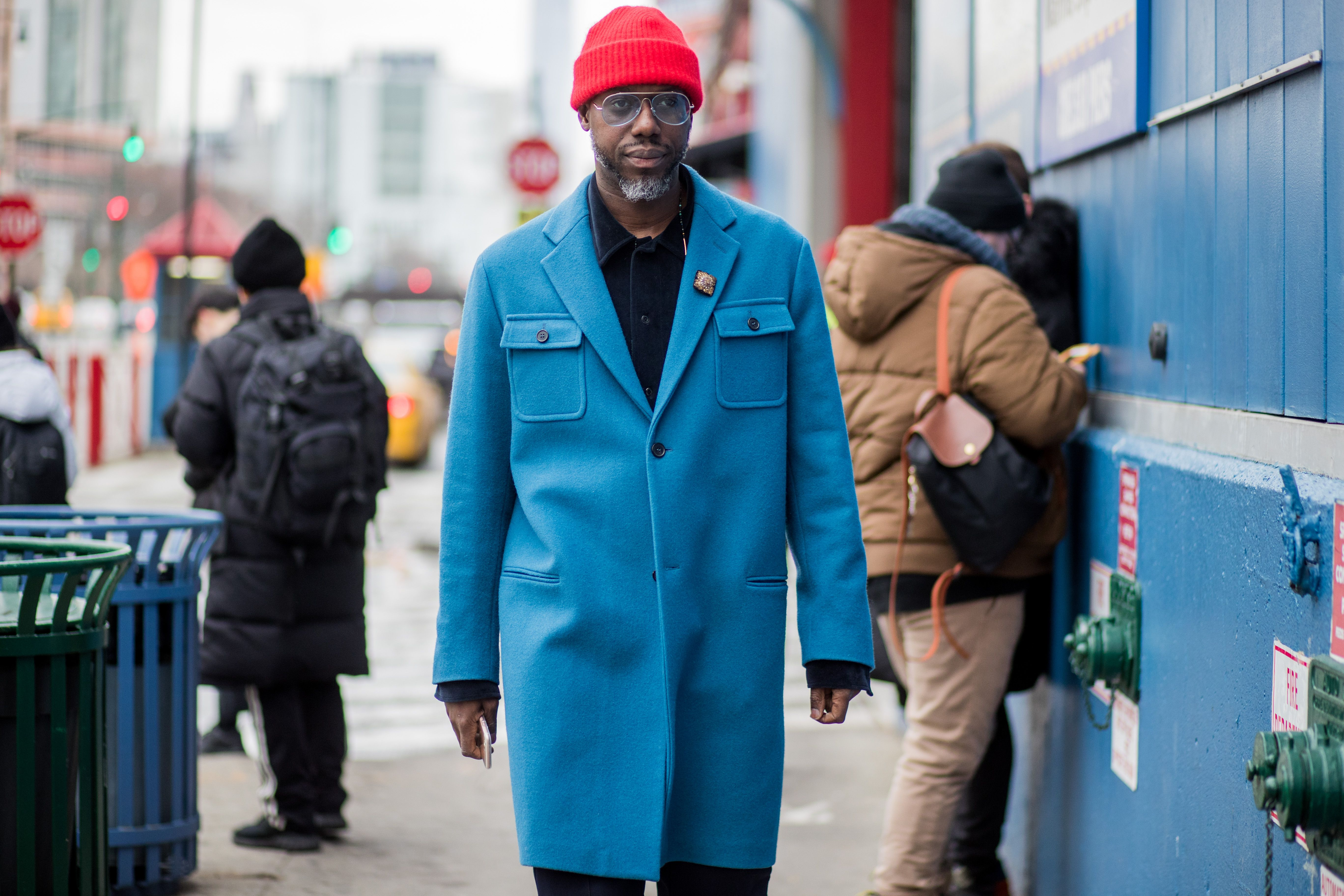 Menswear Street Style New York Fashion Week Men's