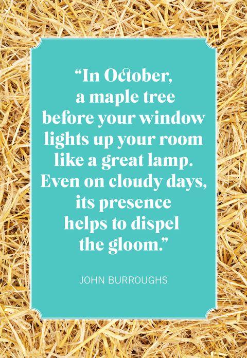 october quotes john burroughs