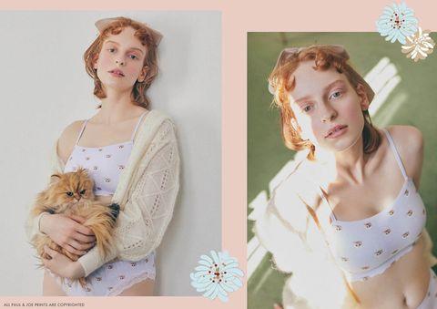 貓奴必收!girls by peach john x pauljoe推出可愛貓咪內衣與經典花朵居家服