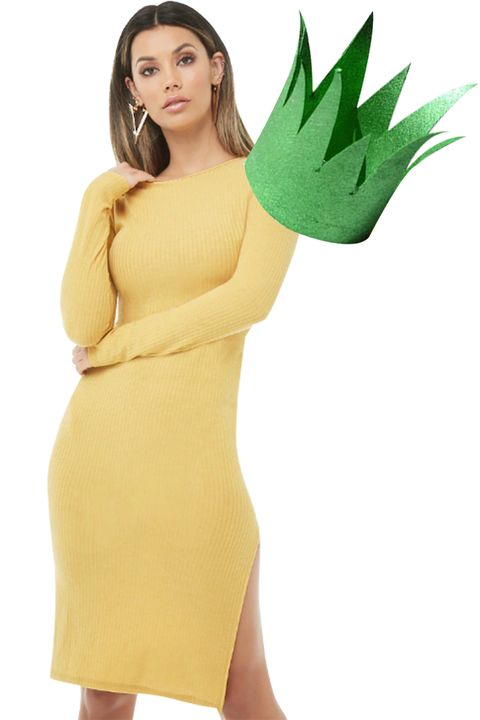 Clothing, Green, Yellow, Dress, Shoulder, Skin, Neck, Arm, Joint, Sleeve,