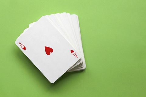 card games leaves gambling curled