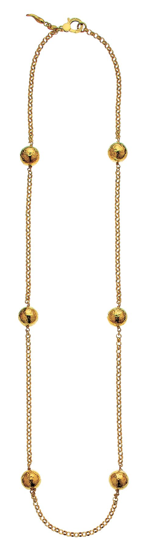 collana d'argento dorato