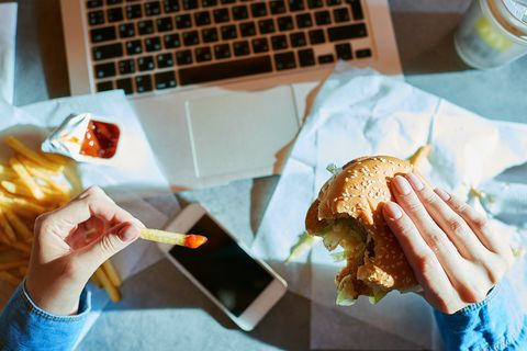 Junk food, Food, Fast food, Dish, Fried food, Cuisine, Breakfast, Croissant, Breakfast sandwich, Cheeseburger,