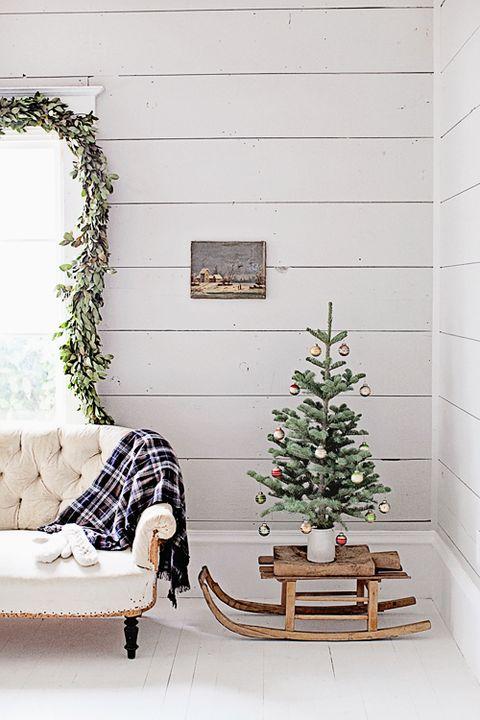 sled diy christmas tree stands