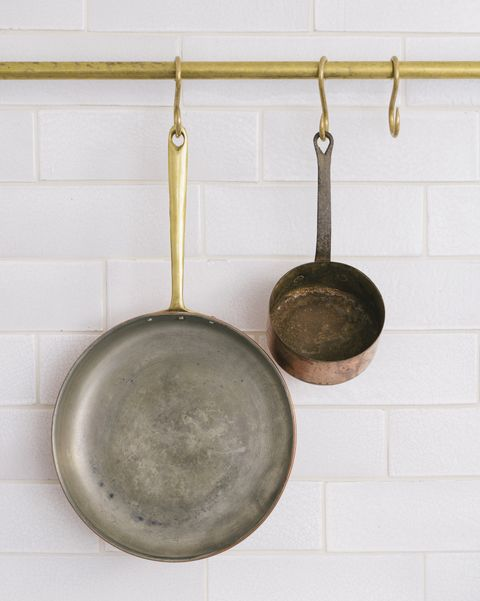 devol brass kitchen hanging rail