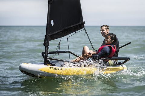 Water transportation, Vehicle, Sailing, Boat, Sail, Recreation, Outdoor recreation, Watercraft, Dinghy sailing, Boating,